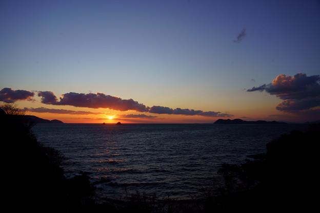 夕陽は叶島の彼方へ