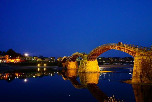 水鏡の錦帯橋