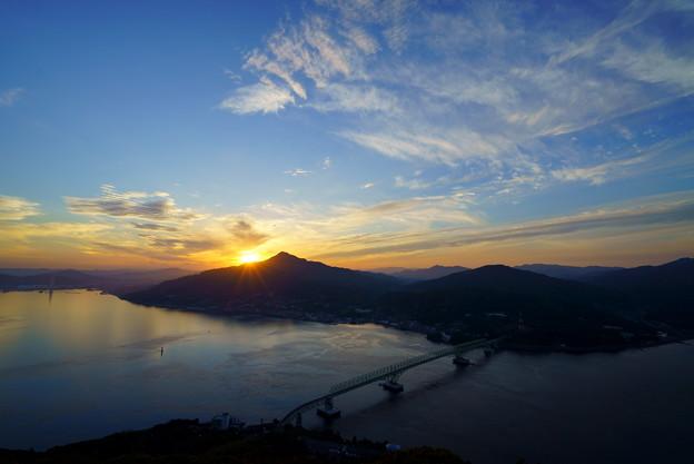 琴石山の夕空