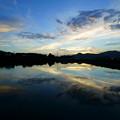 Photos: 夕空を映して