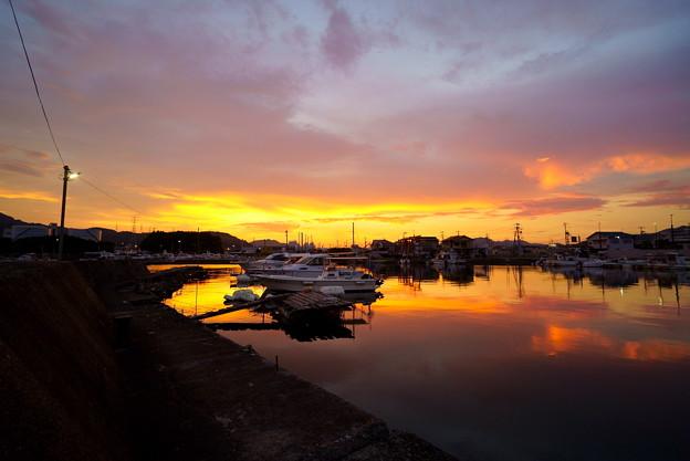 夕焼け漁港