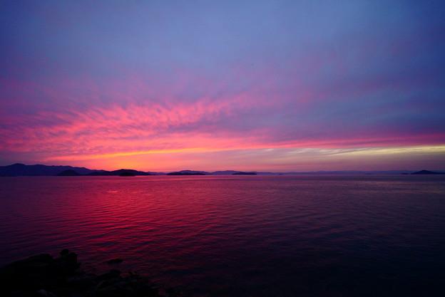 海の夕焼け