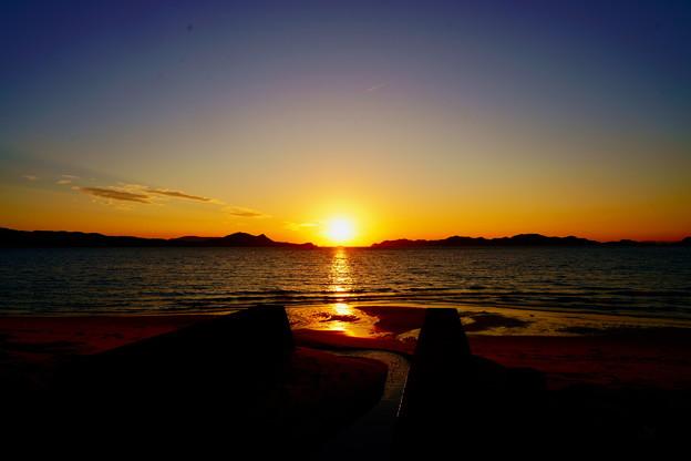海峡の夕陽