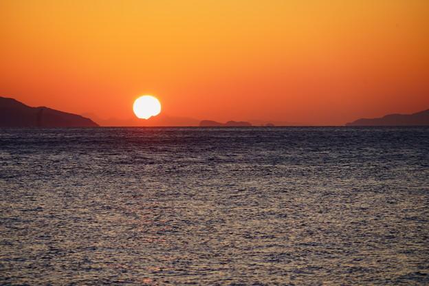 国東半島の夕陽