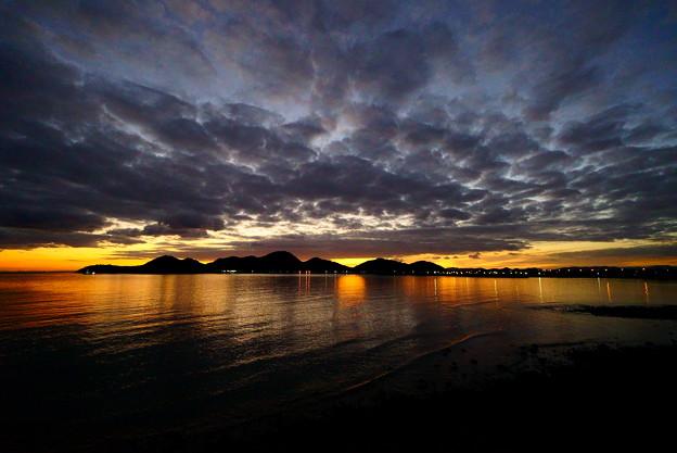 夕暮れの御手洗湾
