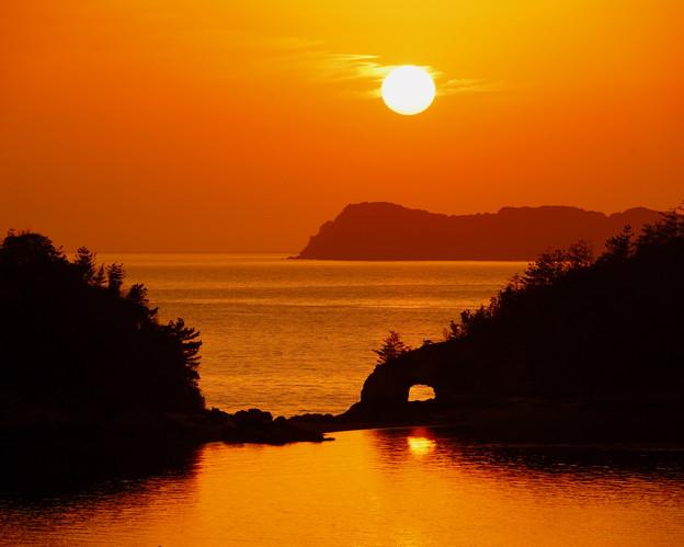 ハナグリの夕陽
