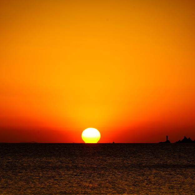 周防灘の夕陽