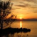 琵琶湖 夕陽