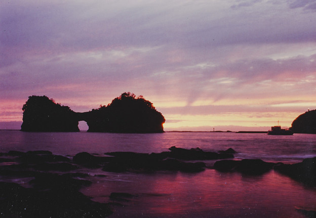 白浜 円月島