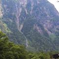 上高地 迫る山