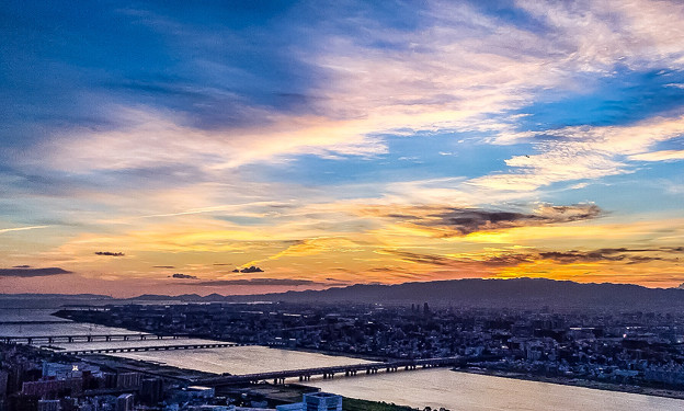 大阪の夕景