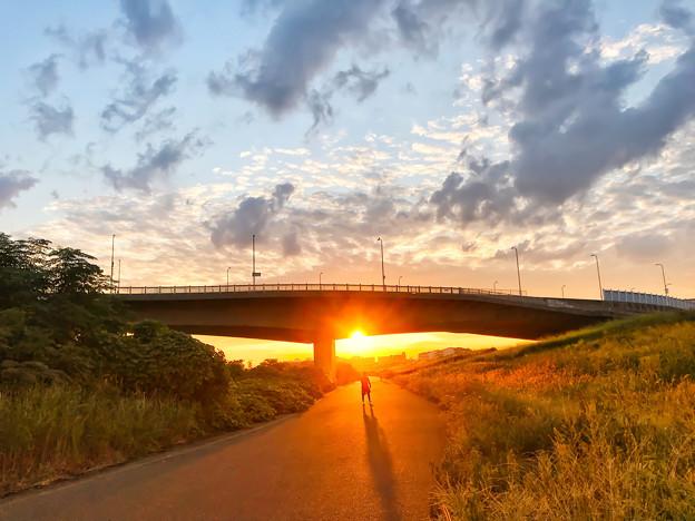 沈み行く夕陽