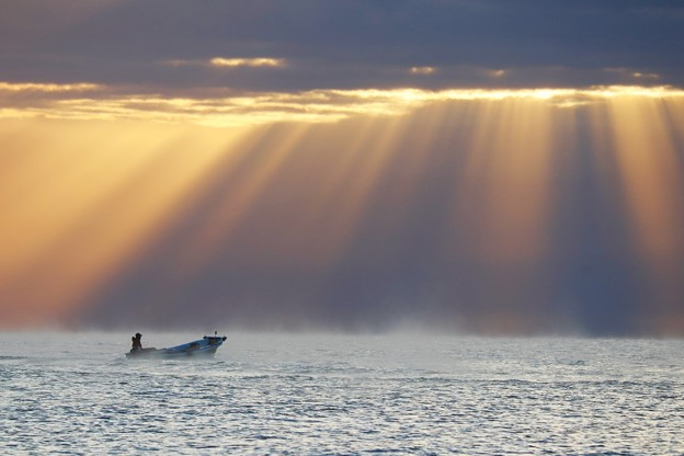 富山湾の光芒