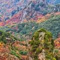 Photos: 奇岩と紅葉