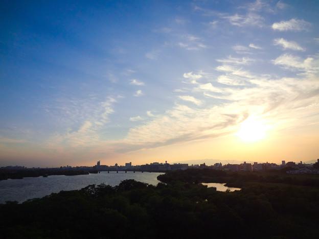 城北大橋から見る夕景