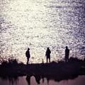ワンドの釣り人