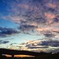 雨後の夕空