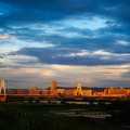 Photos: 夕陽に染まる町