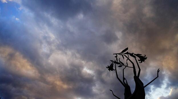 Photos: 彩雲とオブジェ…。