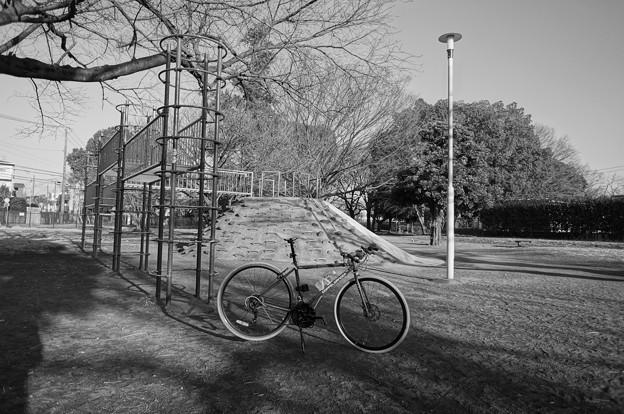 前に行った公園…。