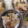 Photos: 鶏ムネ肉まいたけトマトちんげん采リンゴ、ちょっぴりチーズの油なし炒め