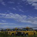 空地のタクシー