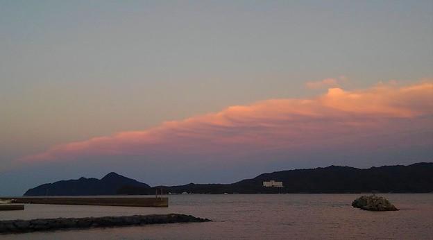 夕暮れの宮津湾