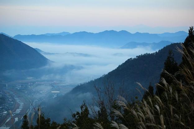 立雲峡から望む雲海(1)