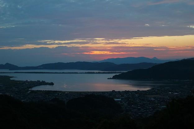 一字観公園から観る朝陽(1)