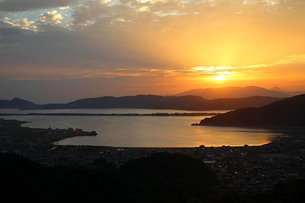 一字観公園から観る朝陽(3)