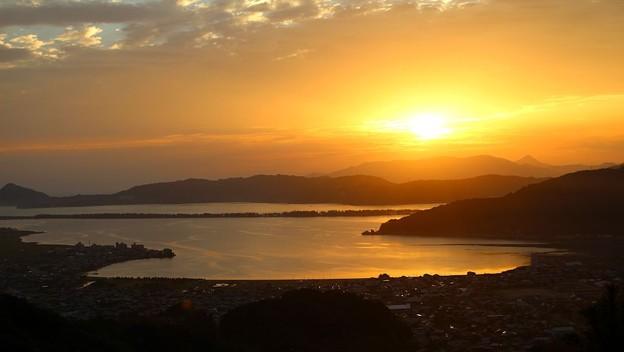 一字観公園から観る朝陽(5)