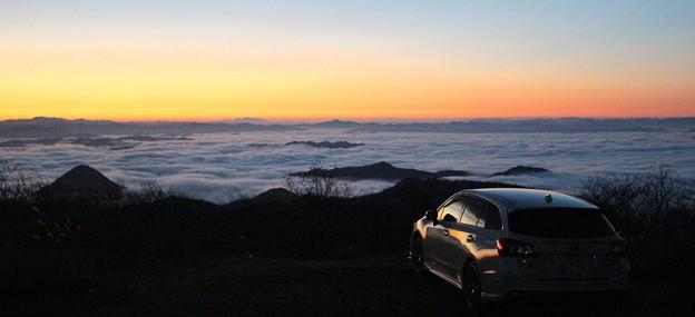 雲海を愛車と共に(1)