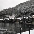 雪景色の舟屋群 2020.12.31