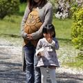 写真: 娘とお孫さん