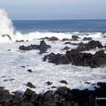 写真: 台風22号のうねり