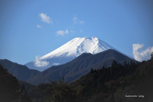 中央高速道からの富士山