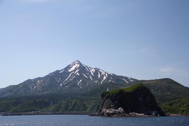 稚内フェリーから利尻山 150601 02