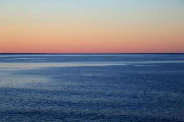 オホーツク海の夕景 160930 01