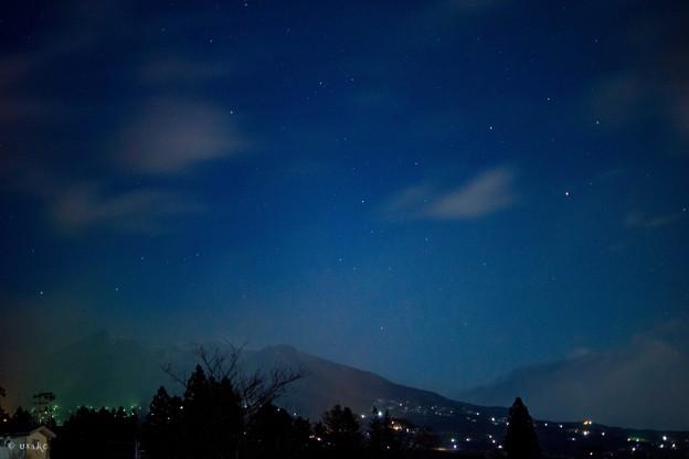 春めいた夜空
