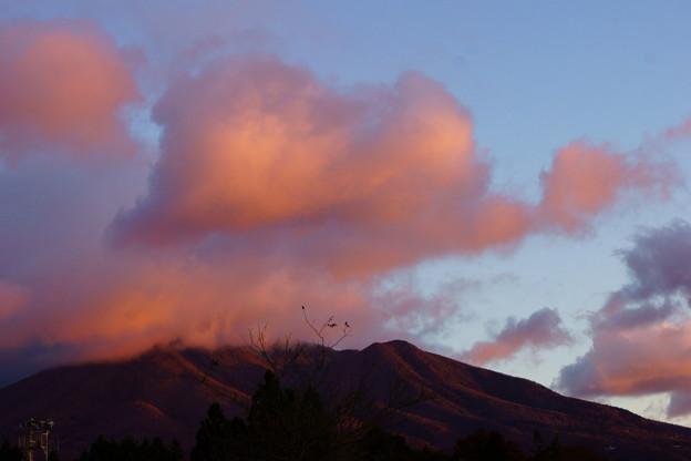 朝焼け雲と