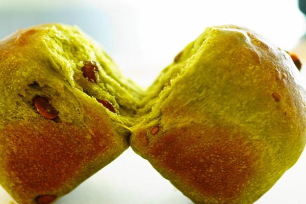 抹茶甘納豆パン