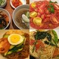 Photos: 今週は冷麺ばかり☆夏は韓国料理 #錦糸町 #草場 #市ヶ谷のトマト麺と冷麺