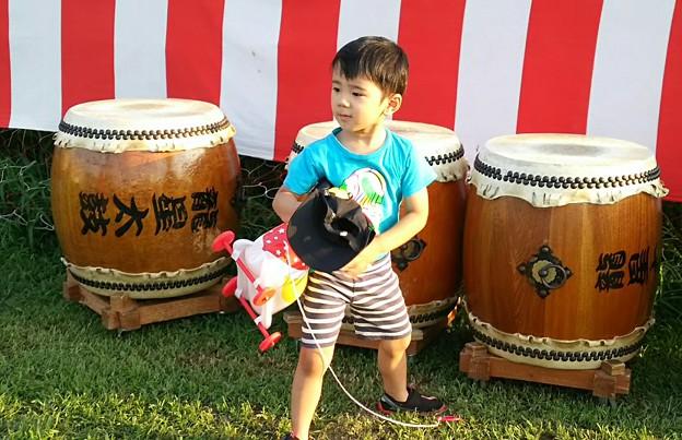 太鼓とオミ