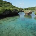 写真: 青い海
