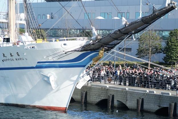 帆船日本丸遠洋航海お見送り