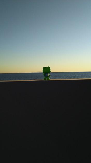 水平線を見つめて