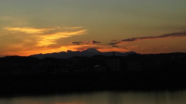 夕焼け富士山