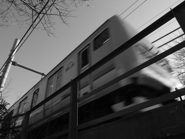 手に届く電車