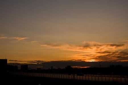 二子玉川の夕日