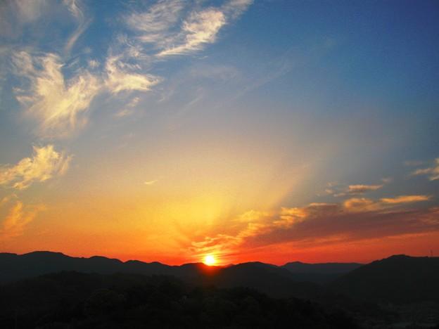 さつき亭から観た瀬戸の夕日-8